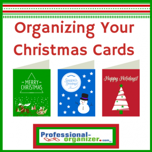 organizing Christmas cards