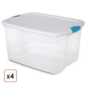 66 quart bin with latch