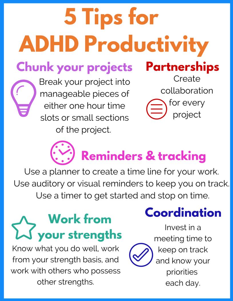 5 Tips for ADHD Productivity - Ellen's Blog, Professional