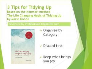 3 Tips for Tidying Up Konmari ++