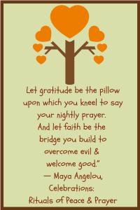 gratitude Maya Angelou