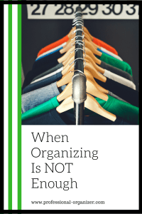 Declutter first, then organize