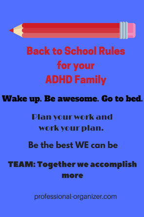 Back to school rules for your ADHD family