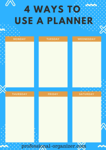 4 ways to use a planner