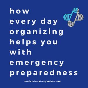 Good organization equals emergency preparedness