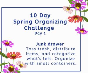 spring organizing challenge junk drawer