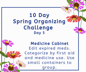 spring organizing challenge medicine cabinet