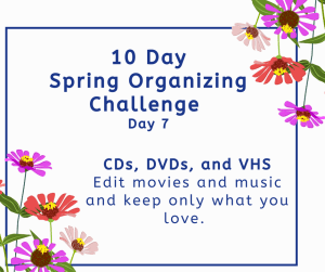 organizing challenge cds. dvds,