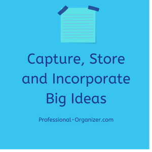 capture store and incorporate big ideas
