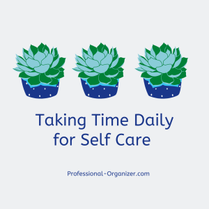 taking time daily for self care