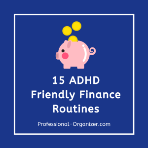 adhd friendly finance routines