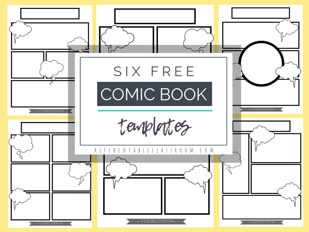 Printable Blank Comic Strip Template For Kids