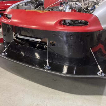 Mazda Miata with Professional Awesome Racing Large Splitter Diffusers and Splitter Support Rods 2