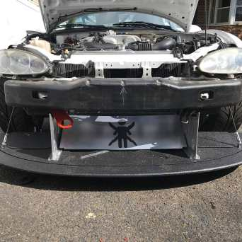Mazda Miata with Professional Awesome Racing Splitter Supports3