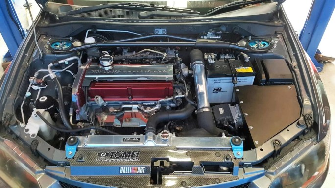CT9A Mitsubishi Evolution engine bay