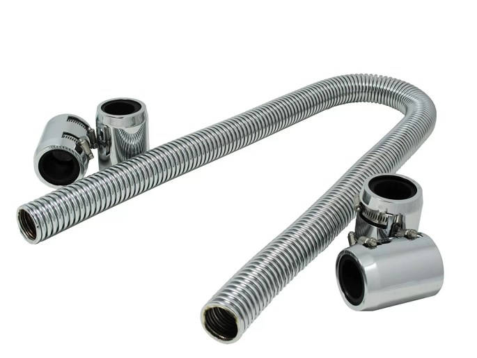 Aftermarket accordion style radiator hose