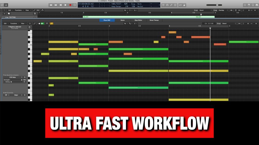 Ultra Fast Workflow in Logic Pro X