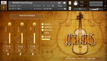 Afflatus Strings by Strezov Sampling