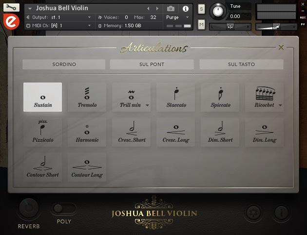 Joshua Bell Violin Articulations