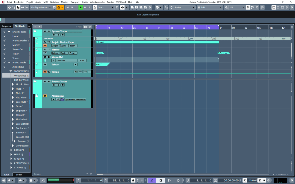DAW Project Template - Empty Template