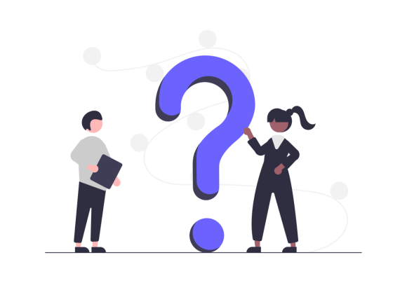Illustration of people with question mark