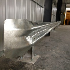 Galvanized Guardrail With Plated Posts