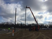Installation of Baseball Backstop