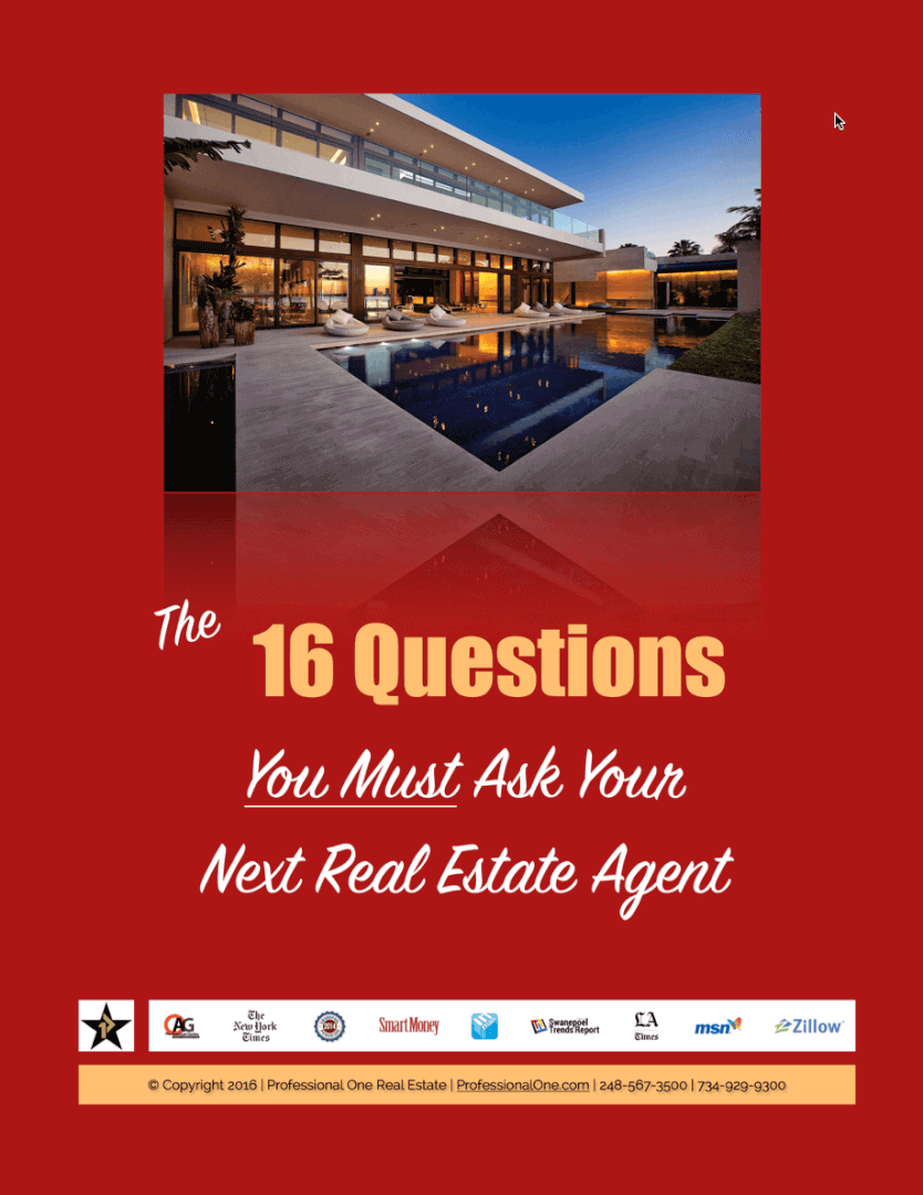 "when selling a home or buying a home, these are the ""16 questions your must ask your next real estate agent"""