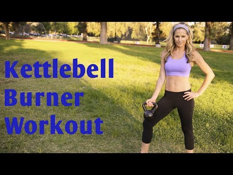 35 Minute Kettlebell Burner Advise for Whole Body Power & Cardio