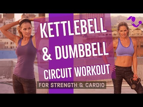 Kettlebell and Dumbbell Circuit Workout for Strength & Cardio