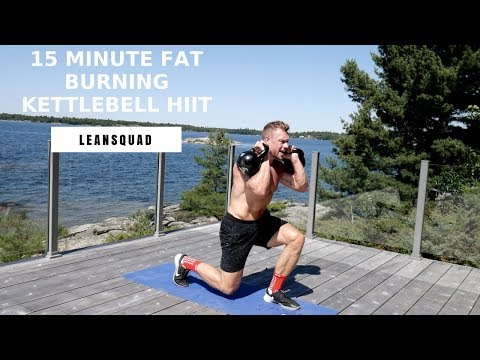 15 Minute HIIT – Kettlebell Exercise For Fat Loss & Energy | Leanssquad