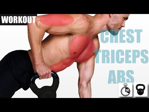 KETTLEBELL CHEST TRICEPS AND ABS WORKOUT FOR STRENGTH AND GROWTH