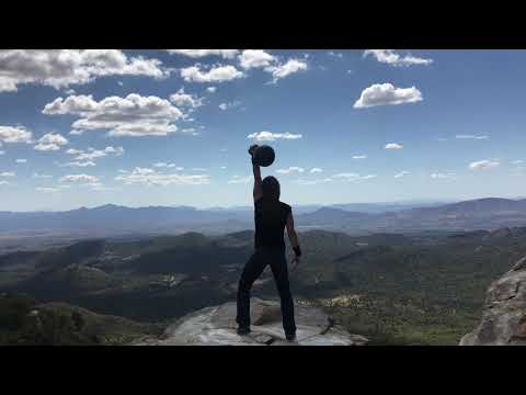 Kettlebell and Mace Play at Skull Valley Lookout with CoachTara