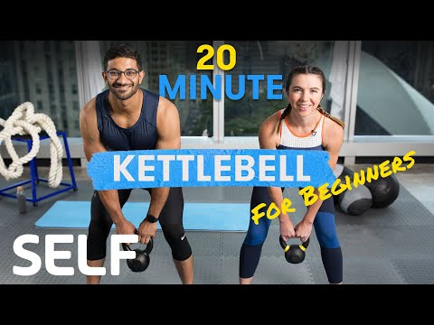 20 Minute Kettlebell Exercise for Beginners – With Warmth-Up and Frosty-Down | Sweat With SELF