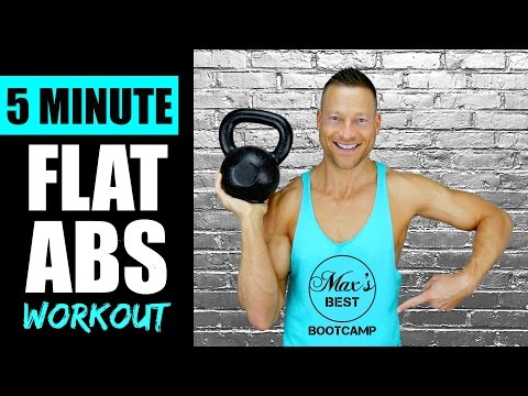 5 MINUTE KETTLEBELL ABS WORKOUT FOR A FLAT STOMACH | Fleet Kettlebell Abs Workout Routine 1