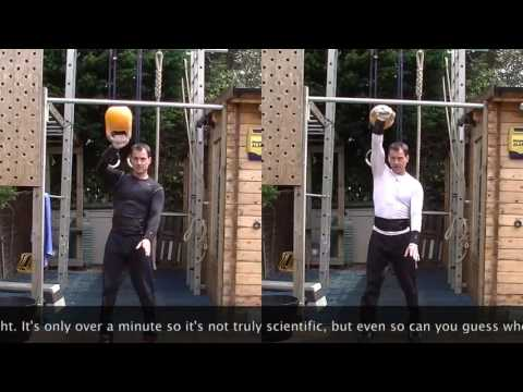Kettlebell Snatch Model – Calories Burned Comparison – Now not easy vs Sport