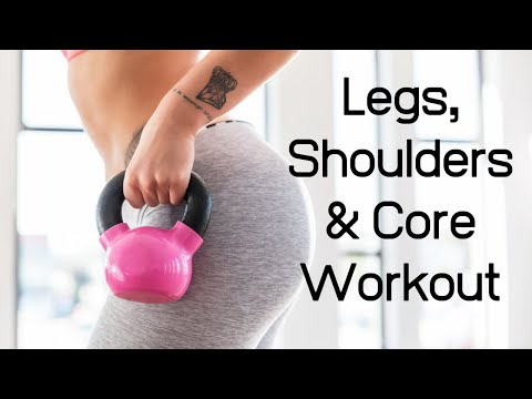 Decrease Physique, Shouders & Core Exercise ll Kettlebell & Planks