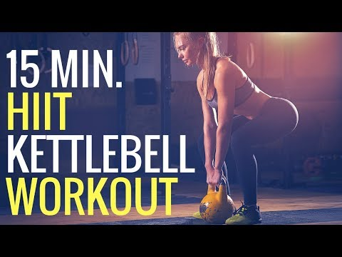 15 minute Beefy Burning HIIT Workout – Kettlebell ONLY!! | MIND PUMP