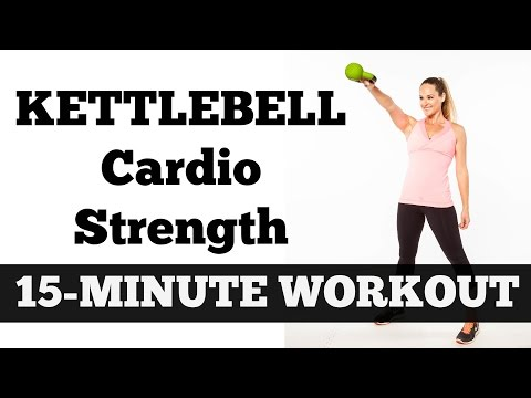15-Minute Kettlebell Cardio Energy | Beefy Length Total Body Corpulent Burning Workout