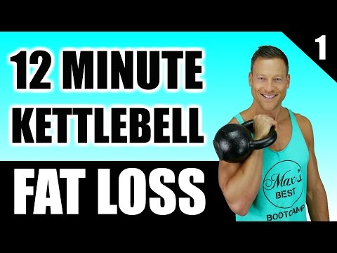 ULTIMATE KETTLEBELL WORKOUT FOR FAT LOSS | 12 Minute Pudgy Burning Kettlebell Workout Routine 1