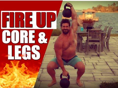 Leg & Core Shredding Kettlebell Routine [Burns Fat & Builds POWER!]   Chandler Marchman