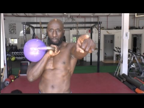 Kettlebell Practicing for Strength Endurance