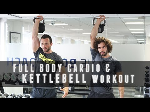 18 Minute Beefy Body Kettlebell & Cardio Exercise | The Body Coach with Technogym Grasp Coach