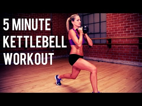 5 minute Kettlebell Exercise for Elephantine Burning and Toning