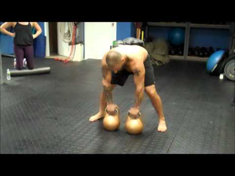 Double 48kg Kettlebell Ravishing Squat Press