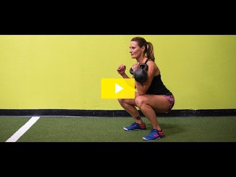 15-Minute Kettlebell Exercise: Kettlebell Front Squat – ClubSport September Exercise of the Month