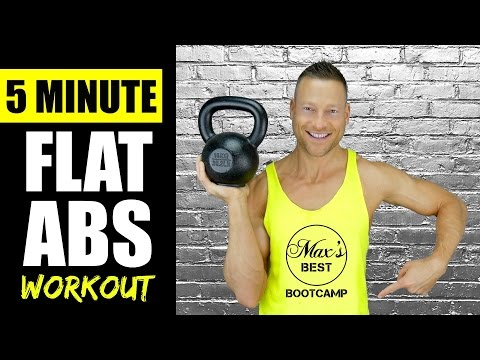 5 MINUTE KETTLEBELL ABS WORKOUT FOR A FLAT STOMACH | Like a flash Kettlebell Abs Exercise Routine 2