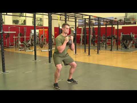 Marines Force Fitness-Kettlebell Goblet Squat