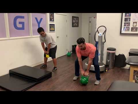Kettlebell Leg Say to Rebuild Energy After ACL Lunge