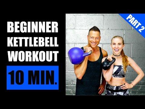 10 MINUTE KETTLEBELL WORKOUT FOR BEGINNERS (PART 2) | Fat Burning Newbie Kettlebell Exercise